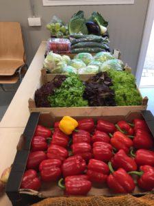 Gemüse auf Tisch