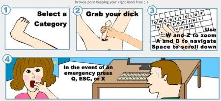 Bedienungsanleitung einhändige Pornoseite